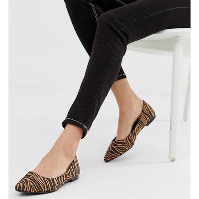 NEW LOOK New Look - Spitze Schuhe mit Animalprint - Steingrau