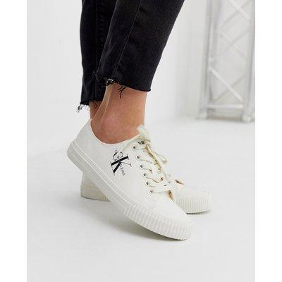 CALVIN KLEIN Calvin Klein - Ireland - Weiße Sneaker aus Stoff - Weiß