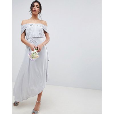 ASOS DESIGN ruched knot front maxi dress