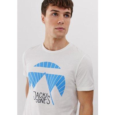 JACK & JONES Jack & Jones - T-Shirt mit Grafik-Logo - Weiß