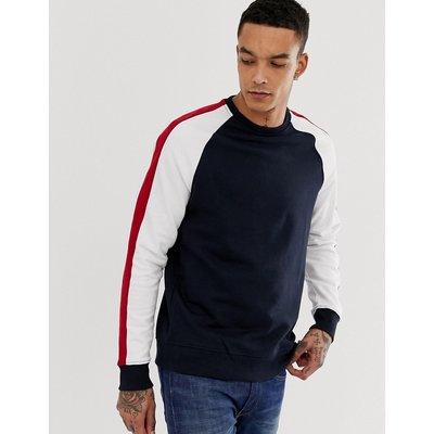 NEW LOOK New Look - Marineblaues Sweatshirt mit Raglanärmeln - Navy