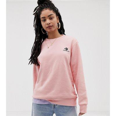 CONVERSE Converse - Oversize-Sweatshirt mit Rundhalsausschnitt und gesticktem Stern- und Chevron-Branding - Rosa
