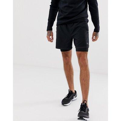 CALVIN KLEIN Calvin Klein Performance - 2-in-1-Shorts in Schwarz - Schwarz