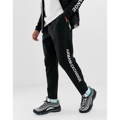 ARMANI EXCHANGE Armani Exchange - Schwarze Jogginghose mit seitlichem Logo - Schwarz