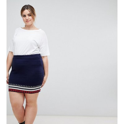 ASOS CURVE Christmas Co-ord Skirt in Fairisle