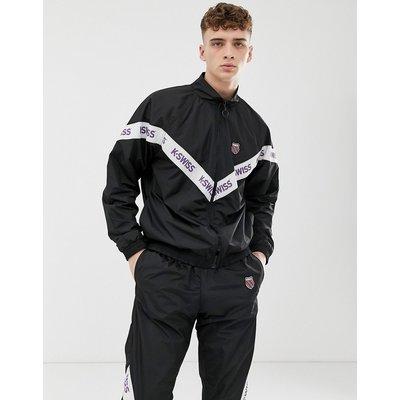 K-SWISS K-Swiss - Westmont - Schwarze Trainingsjacke mit Zierstreifen - Schwarz