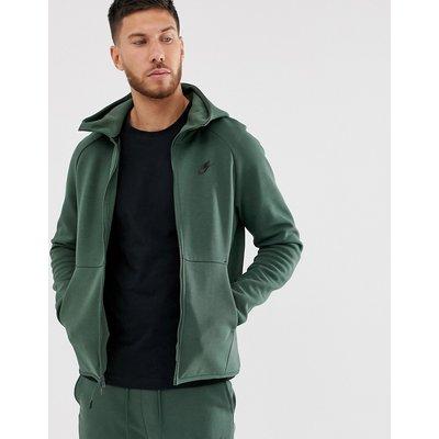 NIKE Nike - Tech - Fleece-Kapuzenpullover in Khaki - Grün