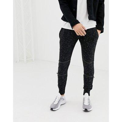 BRAVE SOUL Brave Soul - Enge Jeans mit gesprenkeltem Design - Schwarz