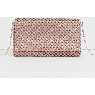 NEW LOOK New Look - Elegante Clutch in Hellrosa mit Perlenverzierung - Beige