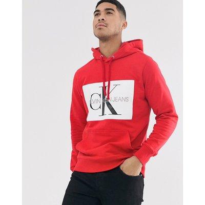 CALVIN KLEIN Calvin Klein Jeans - Kapuzenpullover mit Monogramm-Logo - Rot