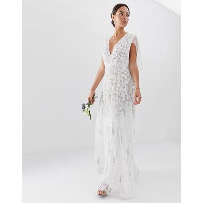 ASOS ASOS EDITION - Hochzeitskleid mit Cape und Verzierung - Weiß