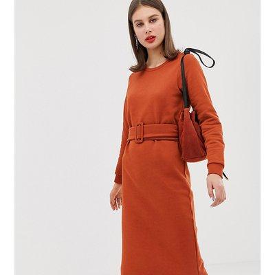 RIVER ISLAND River Island - Oranges Sweatshirt-Kleid mit Gürtel - Orange
