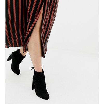 NEW LOOK New Look - Schwarze Stiefel mit Absatz und Schnürung hinten - Schwarz