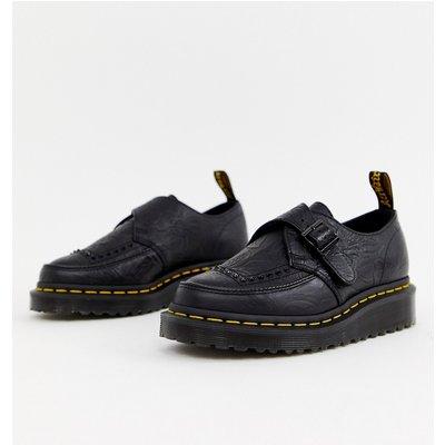 DR MARTENS Dr Martens - Ramsey II - Schuhe aus schwarzem Leder mit dicker Plateausohle und Riemen - Schwarz