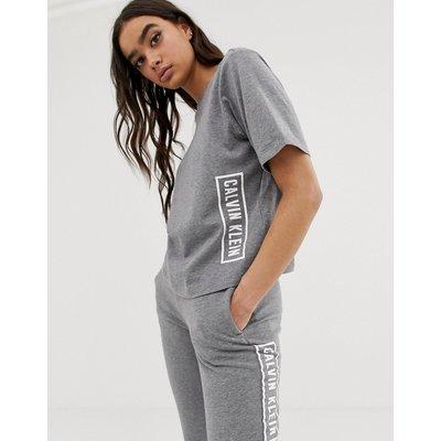 CALVIN KLEIN Calvin Klein Performance ‒ T-Shirt mit Logo in Heidegrau - Grau