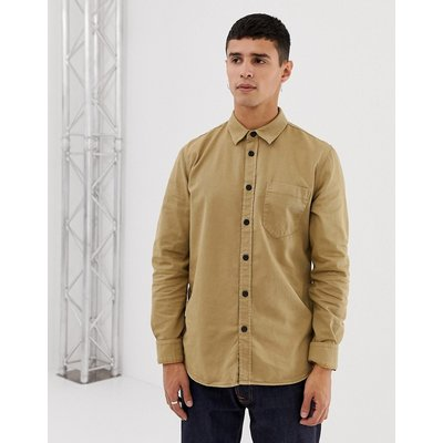 cf37925c Nudie Jeans Co Henry one pocket shirt in sand