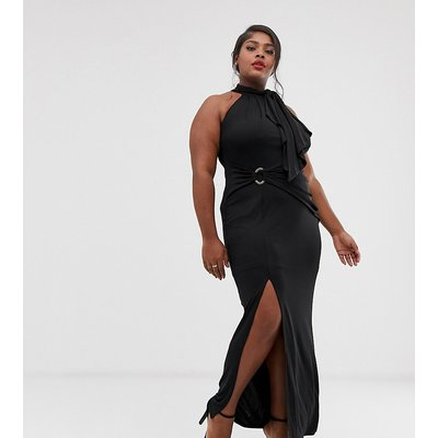Coast Plus Naomi halterneck maxi dress wth side slit
