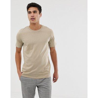 SELECTED Selected Homme - Klassisches T-Shirt - Beige