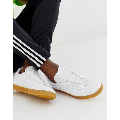 ADIDAS adidas Originals - Gazelle - Sneaker mit Gummisohle aus weißem Leder - Weiß