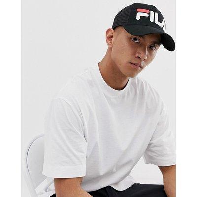 FILA Fila - Sykes - Schwarze Baseball-Kappe mit Logo und Netzstoffrückseite - Schwarz