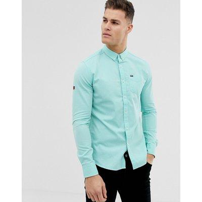 SUPERDRY Superdry - Minzgrünes Oxford-Hemd mit Tasche - Grün