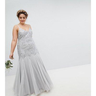 Maya Plus All Over Sequin Cami Strap Fishtail Maxi Bridesmaid Dress