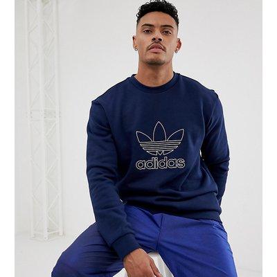ADIDAS adidas Originals - Sweatshirt mit Dreiblatt-Logo in Marine - Navy