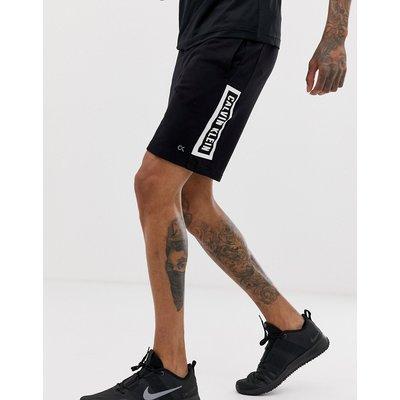 CALVIN KLEIN Calvin Klein Performance - Schwarze Sweat-Shorts mit Markenschriftzug - Schwarz