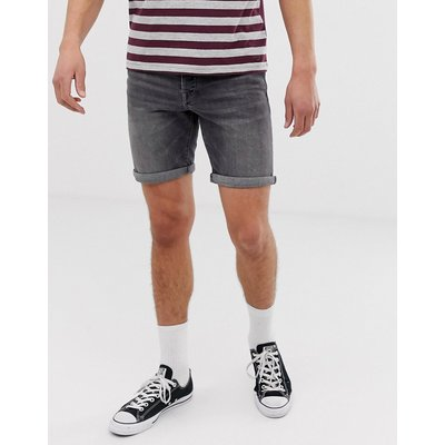 SELECTED Selected Homme - Schmale Jeansshorts in verwaschenem Grau - Grau
