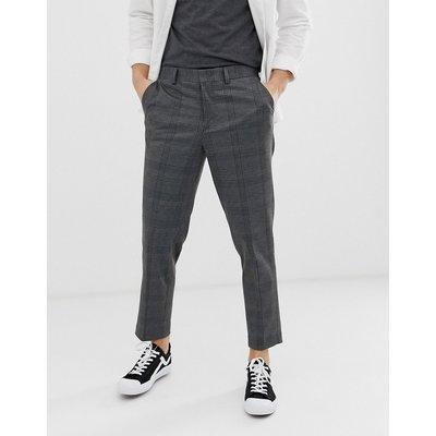 SELECTED Selected Homme - Kurz geschnittene Karottenhose in Grau kariert - Grau