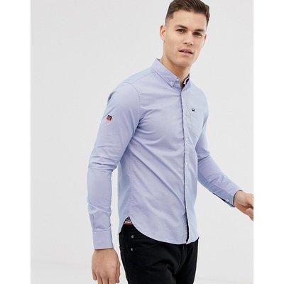 SUPERDRY Superdry - Blaues Oxford-Hemd mit Tasche - Blau