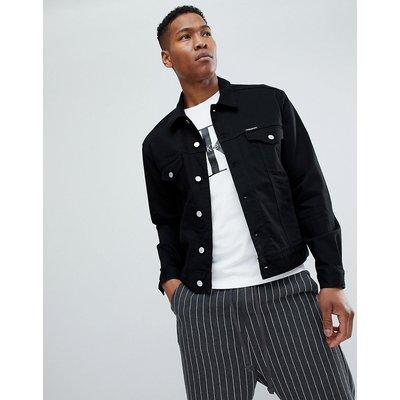 CALVIN KLEIN Calvin Klein Jeans - Stretch-Jeansjacke mit Logo-Applikation auf dem Rücken - Schwarz