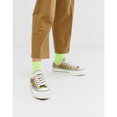 CONVERSE Converse - Chuck Taylor All Star - Niedrige Sneaker mit Häkeldesign in Regenbogenfarben - Mehrfarbig
