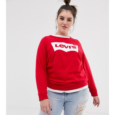 LEVI'S Levi's Plus - Sweatshirt mit Rundhalsausschnitt und Fledermaus-Logo - Rot