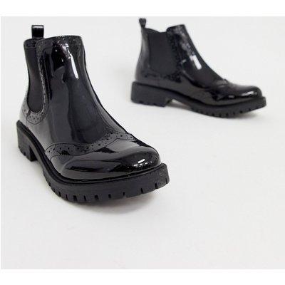 VERO MODA Vero Moda - Chelsea-Stiefel in Lackoptik - Schwarz