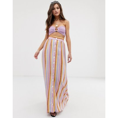 Montce Edith maxi skirt in stripe multi