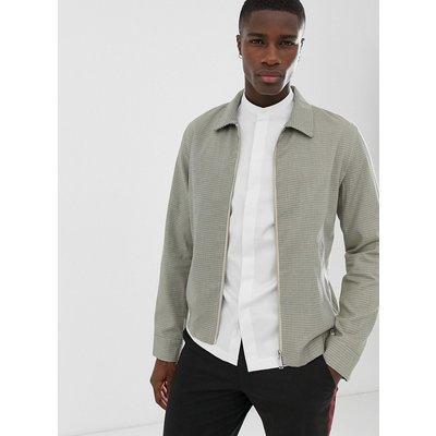 SELECTED Selected Homme - Blouson-Jacke aus Baumwolle mit kleinem Gitterkaro-Muster - Beige
