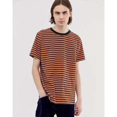 WEEKDAY Weekday - Home - Gestreiftes T-Shirt in Rot - Rot