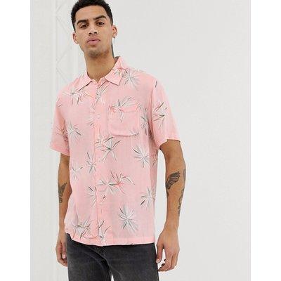 BELLFIELD Bellfield - Viskose-Hemd in Rosa mit Paradise-Print - Rosa