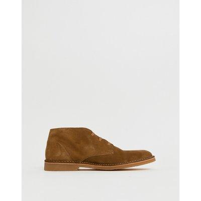 SELECTED Selected Homme - Desert Boots aus hellbraunem Wildleder - Bronze