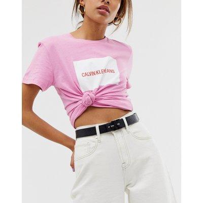 CALVIN KLEIN Calvin Klein Jeans - Ledergürtel mit Logo - Schwarz