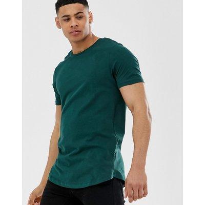 JACK & JONES Jack & Jones Premium - Langes T-Shirt mit abgerundetem Saum - Grün