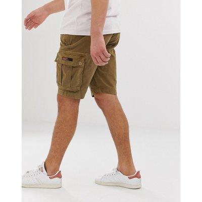 SUPERDRY Superdry - Sandfarbene Cargo-Shorts mit Gürtel - Bronze