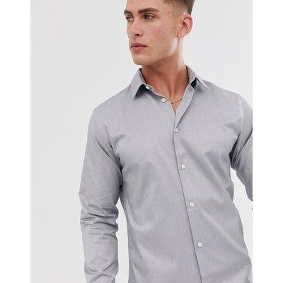 SELECTED Selected Homme - Schmal geschnittenes Hemd - Grau
