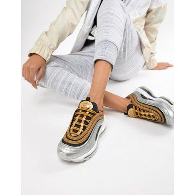 NIKE Nike - Air Max 97 - Sneaker in Schwarz und Gold-Metallic - Schwarz