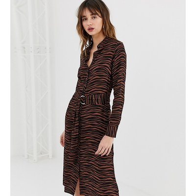 Warehouse shirt dress in tiger print