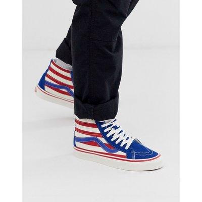 VANS Vans - Anaheim Sk8-hi - Gestreifte Sneaker in Rot/Blau - Weiß