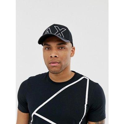ARMANI EXCHANGE Armani Exchange - Schwarze Baseball-Kappe mit großem