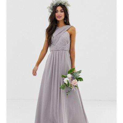 ASOS DESIGN Petite Bridesmaid cross front soft drape maxi dress