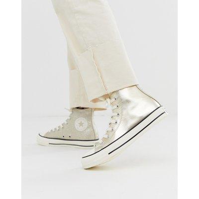 CONVERSE Converse - Chuck Taylor All Star - Hohe Sneaker in Gold glitzernd - Gold